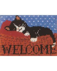 Cat Nap WonderArt #LatchHook Rug DIY Kit #Crafts