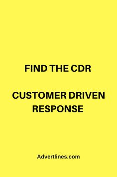 Find the CDR - Customer Driven Response. Tap image to see more quick & easy marketing secrets. #Marketing