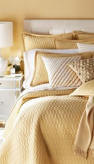 Excellent colours for a bedroom - warm yellow is the Earth element feng shui colour, one of the best colours for the bedroom. Here are more yellow colour tips: http://fengshui.about.com/od/Feng-Shui-Color-Tips/ss/Feng-Shui-Colors-Decorate-House-Yellow-Gold.htm