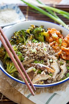 Recipe: Quinoa Bowl with Kimchi, Miso Mushrooms, and Crispy Broccoli — Recipes from The Kitchn
