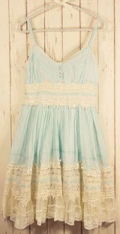 Country Outfits for a concert or the beach, even. This dress would be super cute with cowgirl boots! -Mint lace dress...........Would be cuter if it were a little longer paired with girly cowboy boots or pink silver sandals........