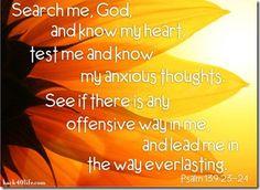 Tim Tebow tweet - Psalm 139:23-24  (November 4, 2012)