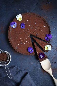 Chocolate Earl Grey Tart + Sea Salt (gf)   The Polka Dotter