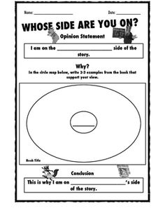 "This is a worksheet used after reading any version of ""The Three Little Pigs"" and the story, ""The True Story of the Three Little Pigs"" by Jon Scieszka. Students will read/listen to these two stories, identify the point of view of each book, then state their opinion on which story they believe: the pigs or the wolf."