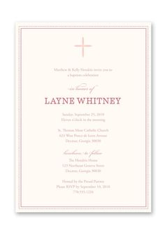 Pink on Pink Tiny Cross Printable Baptism / by summerpagepress, $16.00