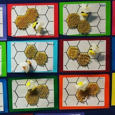 Use more empty rolls cut sliced to create the honey combs – Artofit Bee Activities, Spring Activities, Preschool Crafts, Crafts For Kids, Classe D'art, Bug Crafts, Bee Art, Bee Theme, Spring Art