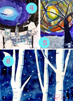 Deep Space Sparkle – Collection of Winter Art Projects