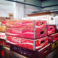 We adore these #vintage #CocaCola & #DrPepper wooden crates in our showroom. Anyone else a fan?