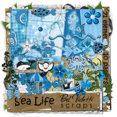 Scrapbooking Blue v23 by rakanksa.deviantart.com on @deviantART
