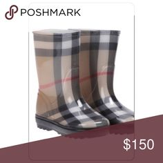 100% AUTH BURBERRY Classic Checked Kids Rainboots New never used. Retails for $200! Unisex 100% AUTHENTIC Burberry Boots Kids sz11-12. Burberry Shoes Rain & Snow Boots