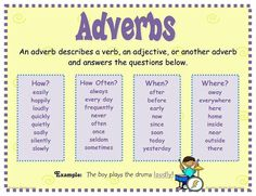 Adverbs CCSS.ELA-Literacy.L.2.1e Use adjectives and adverbs, and choose between them depending on what is to be modified
