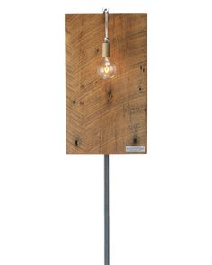 Edison Lighting Sconce - Handmade from maple sourced from Thomas Edison's Wisconsin phonograph factory, which he purchased in 1917 to make phonograph cabinets.