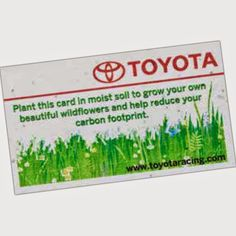 Premium seeded paper business card green promotional products going green promotional items mini planters seed paper and eco friendly product reheart Gallery