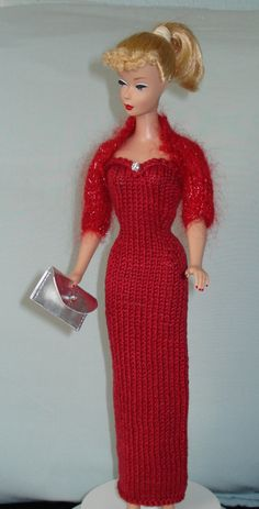 Barbie Handmade hand Knitted Valentine by BarbiesRetroBoutique, $33.00