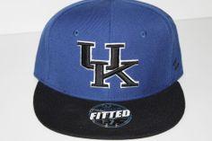 Zephyr Kentucky Wildcats Adult Fitted Blue/Black UK Flat Bill Hat Cap Lot JB-55