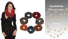 Zarima zieht dich an, entdecke die neuen Accessoires: Tücher, Schals, Schlauchschals, auf zarima.de.
