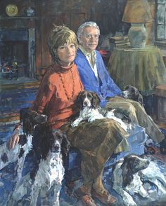 A Family of Spaniels.  Susan Ryder, RP, NEAC, Portrait Painter - Groups and Children