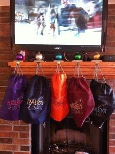 Cinch sacs instead of stockings...how stinking cute and practical!!!