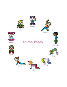 Apparel for the Adventurous Heart by LuxxCultureCo Kids Yoga Book: My First Yoga Animal Poses.Kids Yoga Book: My First Yoga Animal Poses. Yoga For Kids, Exercise For Kids, Kids Yoga Poses, Kids Workout, Meditation For Children, Stretches For Kids, Cool Yoga Poses, Gross Motor Activities, Preschool Activities