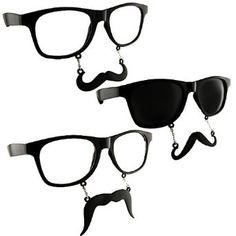 Glasses with Staches