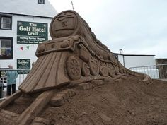 The East Neuk Sand Train sculpture made by sandinyoureye in 2010 Stay in Crail at self-catering Sandcastle Cottage: http://www.2crail.com