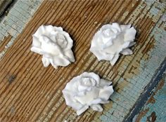 Shabby+Chic+Traditional+Roses+set+of+3+by+diychicgirl+on+Etsy