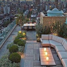Entardecer direto de um rooftop novaiorquino!