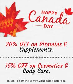 Celebrate Canada Day with Extra Savings!
