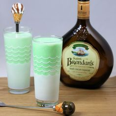 AHA! Shamrock shake with Irish cream!