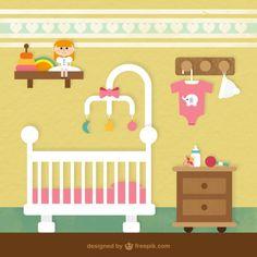 baby room Free Vector