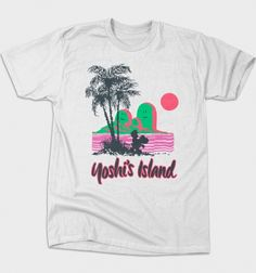 Yoshi's Island T-Shirt $12 Super Mario Bros tee at Busted Tees today!