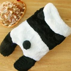 osell wholesale dropship Lovely Woolen Warmth Hood Panda Shape Dog Costumes $3.74