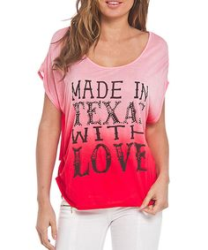 Look what I found on #zulily! Katydid Collection Red 'Made in Texas With Love' Scoop Neck Tee by Katydid Collection #zulilyfinds