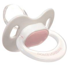 Dolce & Gabbana - Pink Glass Baby Bottle & Dummy Boxed Gift Set | Childrensalon