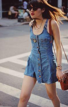 Love this mini denim dress x