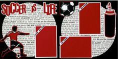 Soccer Boy Premade 12x12 Scrapbook Pages. $9.95, via Etsy.