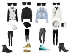 """Sunglasses squad"" by carissamurphree ❤ liked on Polyvore featuring Yves Saint Laurent, Rick Owens, Giuseppe Zanotti, Gotta Flurt, Converse, Calypso Private Label, Topshop, NIKE, rag & bone and Ray-Ban"