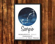 Items similar to Sagittarius Constellation Art Scorpio, Aquarius Art, Gemini Zodiac, Cancer Horoscope, Astrology Zodiac, Horoscopes, Printable Star, Printable Wall Art, Taurus