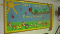 Spring bulletin board for church.