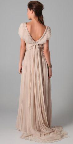 Ethereal by Leila Hafzi Fariba Ruffle Sleeve Gown