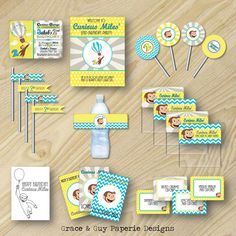 Curious George Party Modern Curious George by GraceandGuy on Etsy
