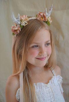 Floral Antler Headband... halloween deer fawn by jadadreaming