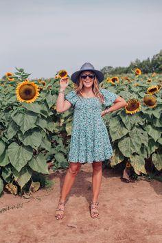 Kentucky Sunflower Field / Glitter & Gingham Leopard Sandals, Sunflower Fields, Target Style, Wide-brim Hat, Warm Weather, Pink Color, Gingham, Kentucky, Summertime