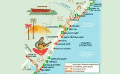 Roteiro Rodoviário - Linha Verde, Sergipe e Sul de Alagoas