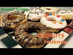 CRONUTS   mitad donuts, mitad croissants   rellenos de crema pastelera - YouTube