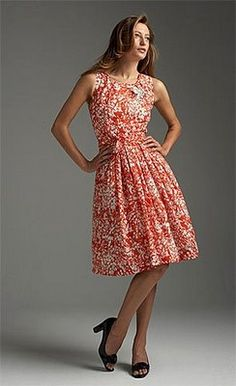 Talbots....not sure about the print, but I love the way the dress is cut...