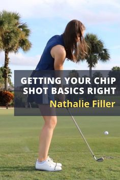 LPGA Teaching Professional, Nathalie Filler takes you through the skills you need to get your chip shots close to the hole. #golf #golftip #golfswing #golflessons #womensgolf Golf Wedges, Golf Chipping Tips, Golf Books, Golf Score, Golf Day, Best Golf Courses, Golf Instruction, Golf Putting, Golf Exercises