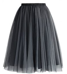Beautiful grey tulle skirt