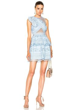 44ac0a68cac5 Ariella Shoulder Knot Lace Mini Dress