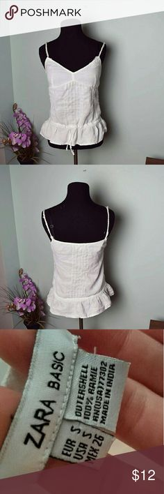 Zara Basic White Flowy Blouse In great condition. Beautifully made and very comfortable! Zara Tops Blouses